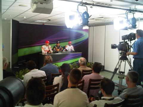 Behind the F1 Interview Room