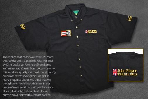 JPS Lotus team shirt