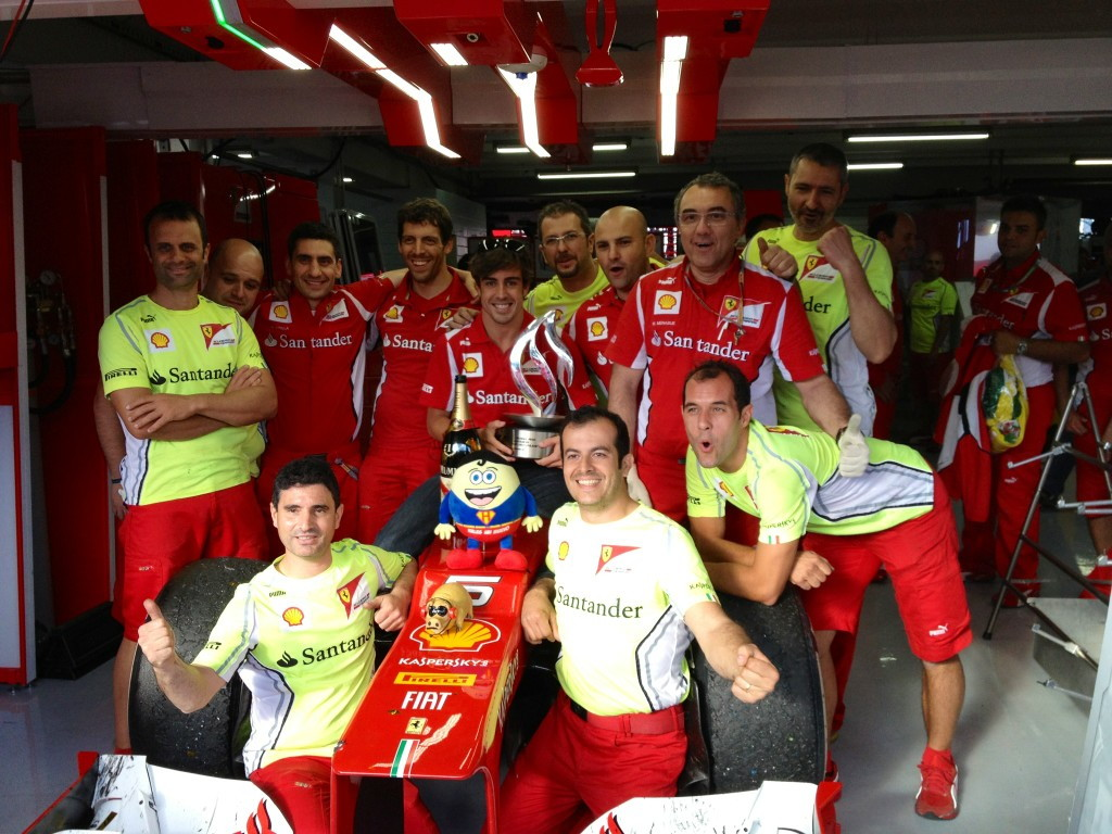 Alonso—Germany 2012 celebration