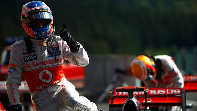 Button—Spa 2012 qualifying