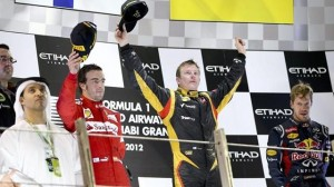 Abu Dhabi 2012 podium