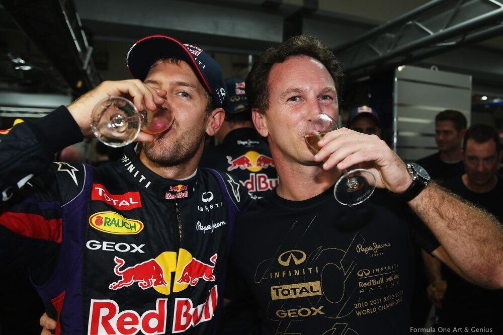 Vettel & Horner—Buddh 2013
